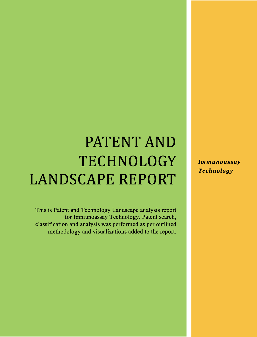 Immunoassay Technology Landscape Report